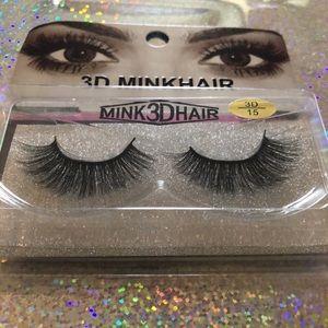 Mink Hair 3D Eyelashes ( 10  pairs of Eyelashes )